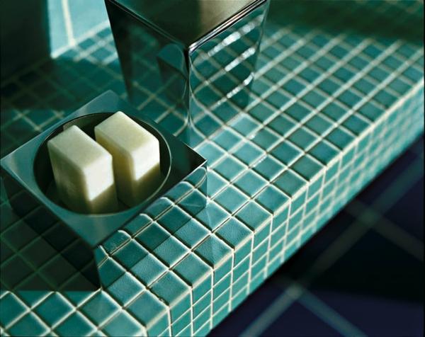 carrelage salle de bain mosaique turquoise surface contemporain - Mosaique Turquoise