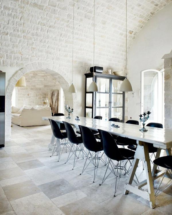 chaise-noir-table-banc-design-unique