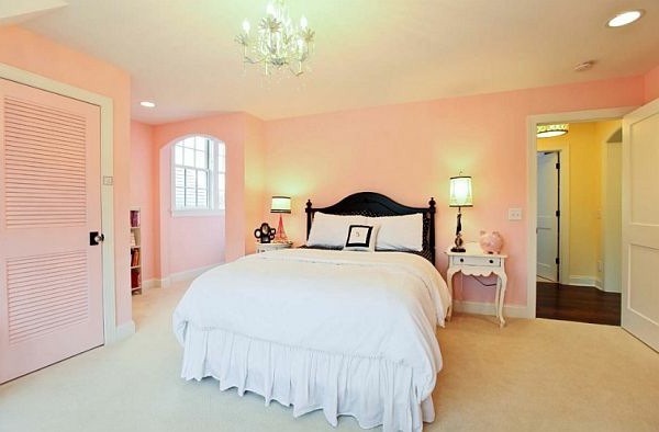 Chambre rose pastel for Couleur chambre rose