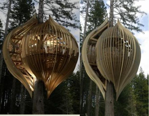Fabriquer Une Cabane En Bois Dans Un Arbre : Une cabane dans les arbres luxe ? nature et chic