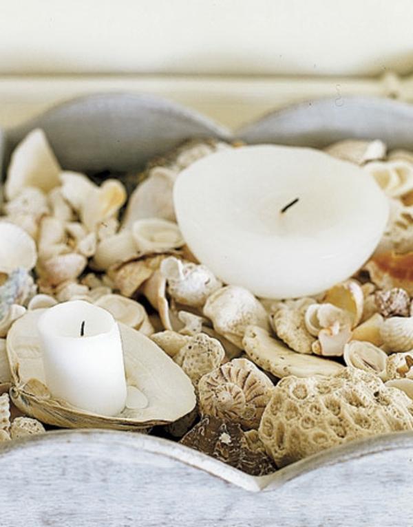 coquilles décoration-bougies