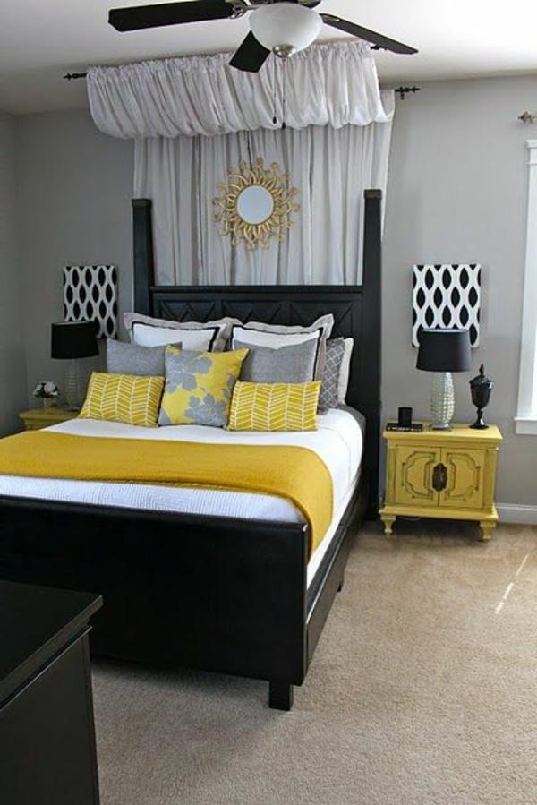 deco chambre a coucher cosy couleur chambre deco chambre gris jaune - Deco Chambre A Coucher Cosy