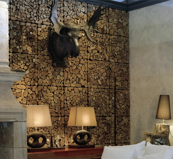 Une d coration en bois pour le mur for Panneau decoration murale design
