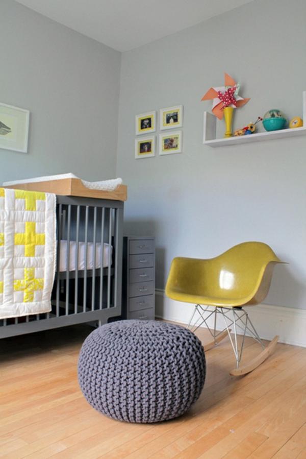 deco-chambre-gris-jaune-moderne