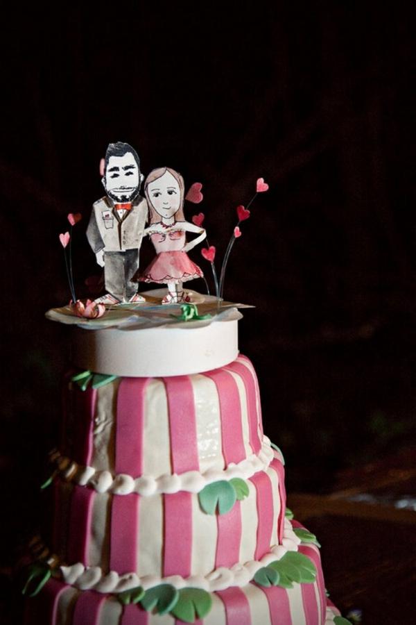La d co gateau mariage originale romantique et unique - Deco mariage originale ...