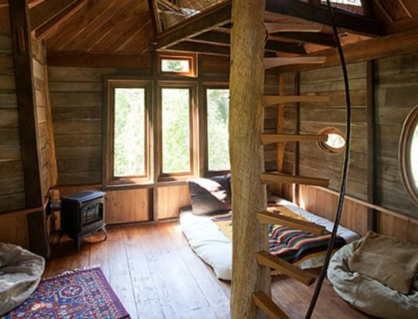 Une cabane dans les arbres luxe - nature et chic - Archzine.fr