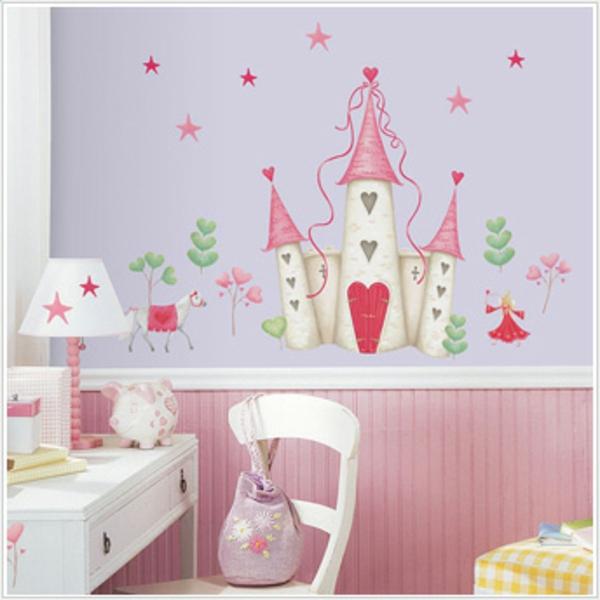 D coration d 39 une chambre de petite princesse - Dessin chambre bebe fille ...