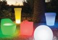 Le cache pot lumineux – pour le jardin modern