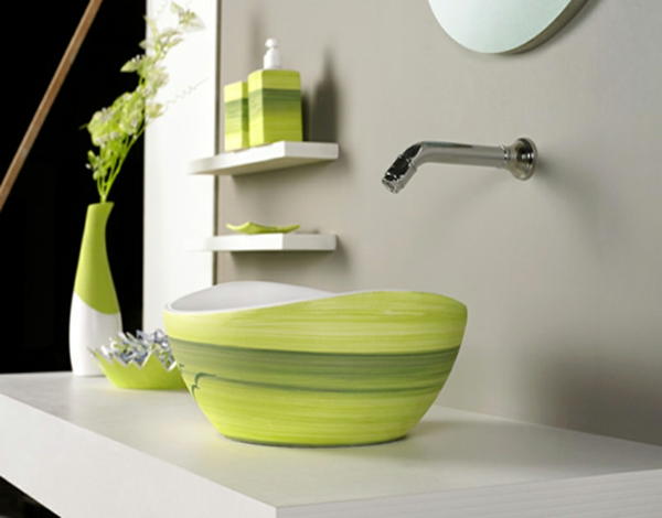 green-accessoire-de-salle-de-bain