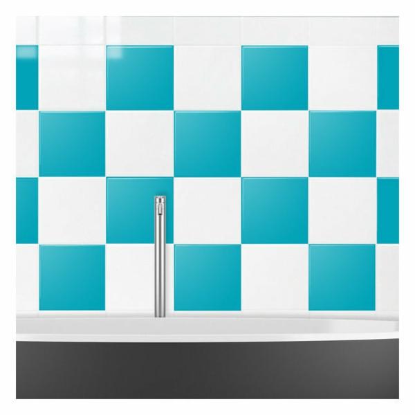 salle de bain avec carrelage turquoise. Black Bedroom Furniture Sets. Home Design Ideas