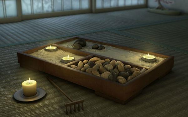 jardin-zen-miniature-bougies