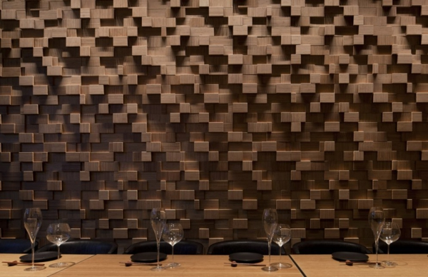 Une d coration en bois pour le mur for Bois pour mur exterieur