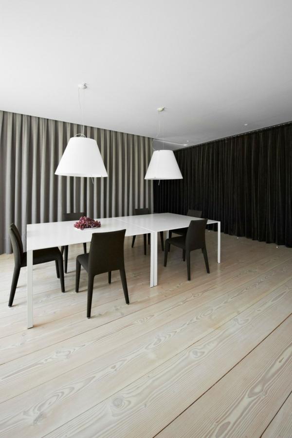 minimalisme-deco-de-table-noir-et-blanc-salle-à-manger