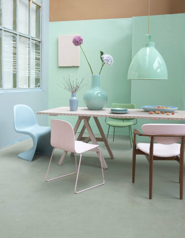 modernes-meubles-rose-bleu