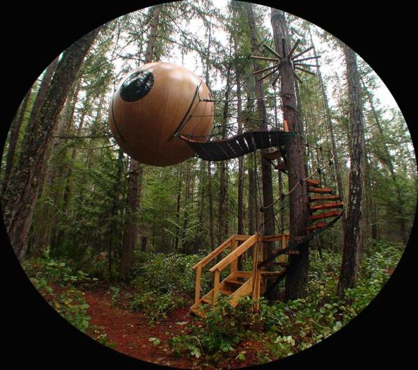 Une cabane dans les arbres luxe nature et chic - Cabane dans les arbres selection originale ...