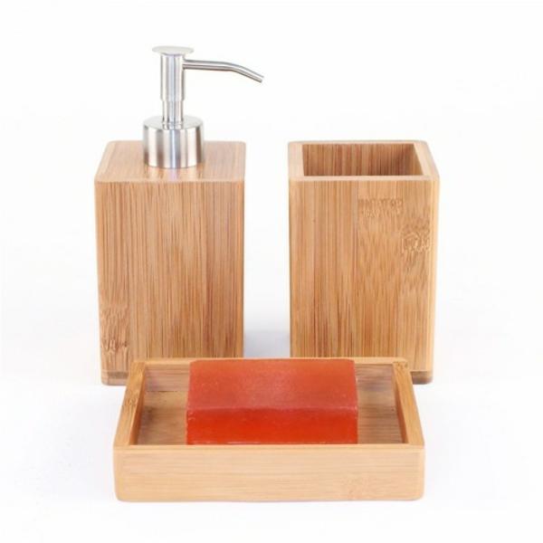 Jolie salle de bain accessoires for Accessoire salle de bain bois