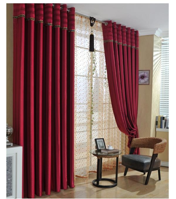 rouge-classique-rideau-occultant-pas-cher-