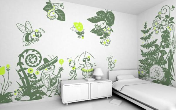 sticker-muraux-geant-vert-chambre-à-coucher