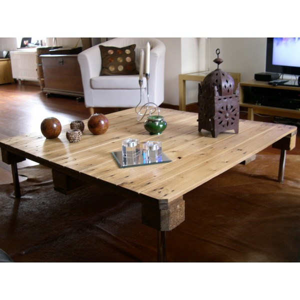 Table salon palette chantier maison design - Table salon palette ...