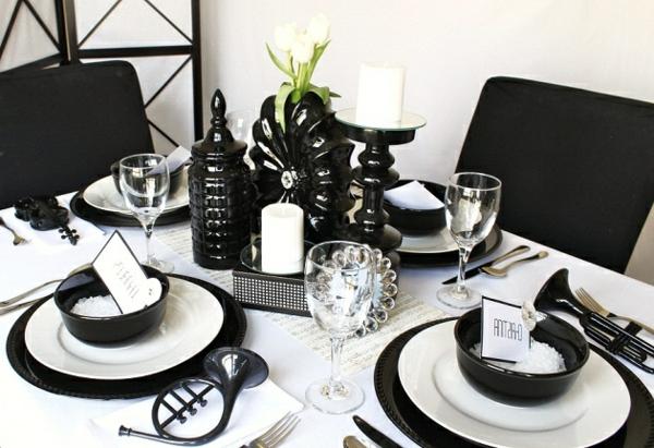 Comment faire la d co de table noir et blanc - Tout pour la table ...