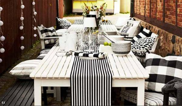 vintage-style-deco-de-table-noir-et-blanc