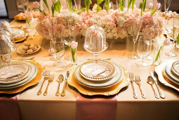 decoration de table de mariage glamour