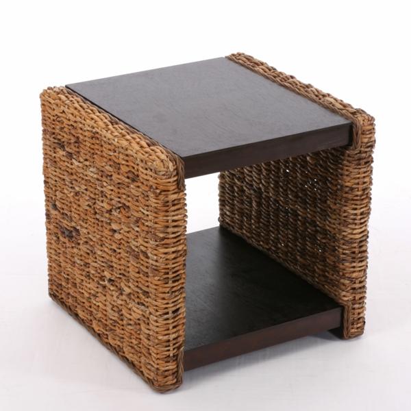 la table basse en rotin une touche d 39 exotisme et chappatoire au quotidien. Black Bedroom Furniture Sets. Home Design Ideas