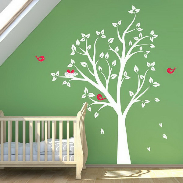 Stickers arbre bleu chambre bebe for Stickers arbre chambre bebe