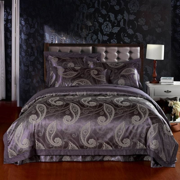 Free-Shipping-jacquard-cotton-satin-4pcs-Noble-king-font-b-Silk-b-font-bedding-set-font-resized