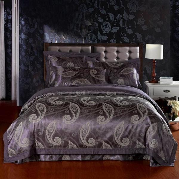 Free-Shipping-jacquard-cotton-satin-4pcs-Noble-king-font-b-Silk-b-font-bedding-set-font-resized