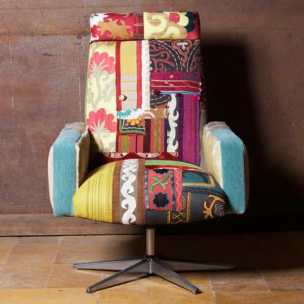 meuble-vintage-chaise-colorée