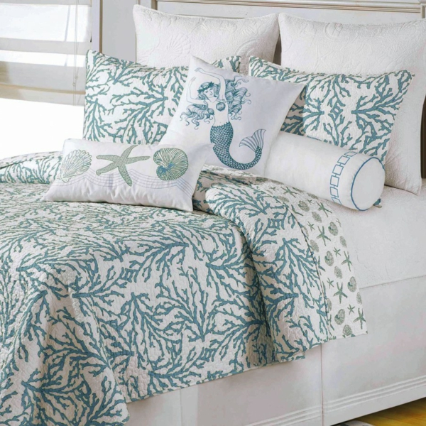 accessories-marvellous-bedroom-design-ideas-with-nautical-turquoise-bed-sheets-including-mermaid-pillow-on-bed-delectable-bedroom-design-using-turquoise-bed-sheets-resized