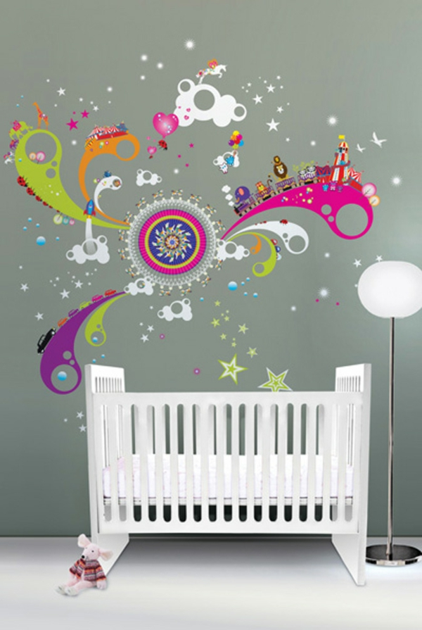 La d coration murale chambre b b comment faire pour for Decoration murale bebe