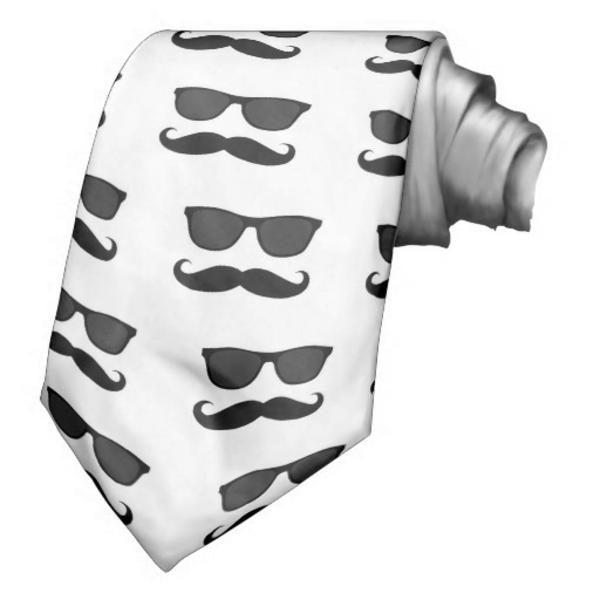 attacher-avec-des-mustache-blanc-et-noir