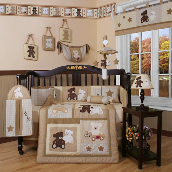 deco chambre bebe garcon ourson. Black Bedroom Furniture Sets. Home Design Ideas