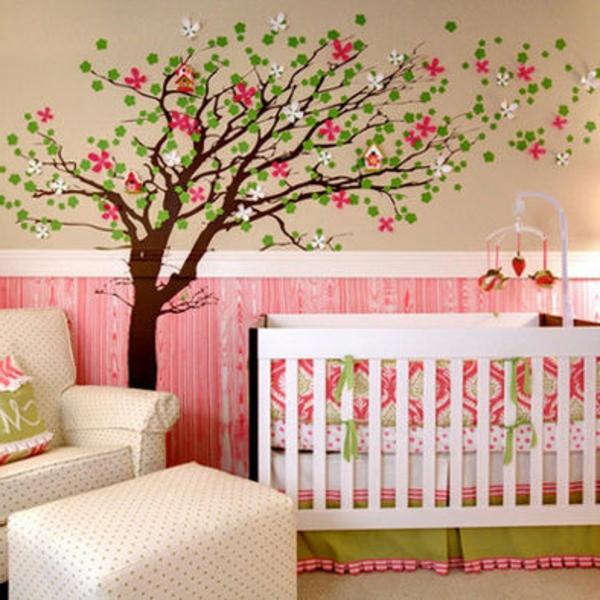 La d coration murale chambre b b comment faire pour for Deco arbre chambre bebe