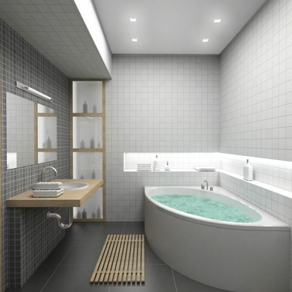 le carrelage mural pour la salle de bain - le style et la beauté ... - Plaque Murale Salle De Bain