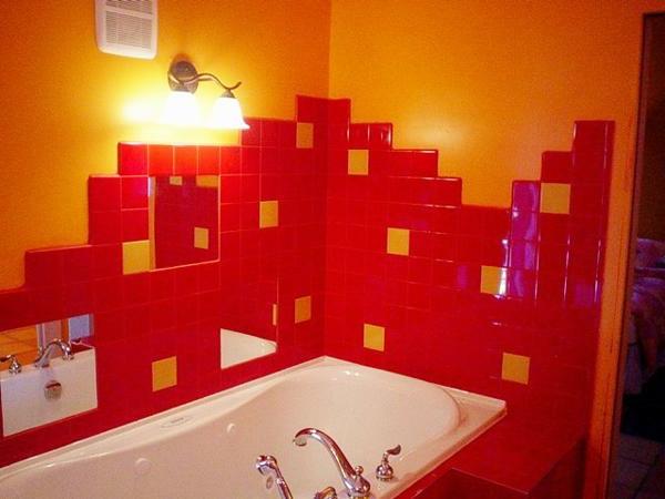 Salle de bain faience rouge solutions pour la d coration for Faience salle de bain rouge
