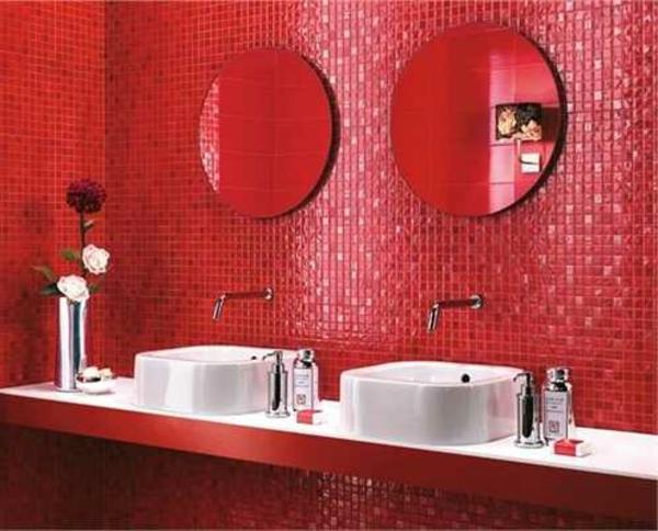 Le carrelage mural pour la salle de bain le style et la for Poster pour salle de bain