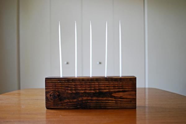 chandelier-en-bois-candélabre-bloc-massif-cina-bougies