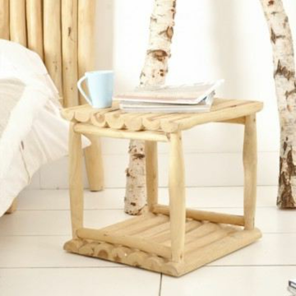 une table de chevet en bois choisir ou faire vous m me. Black Bedroom Furniture Sets. Home Design Ideas