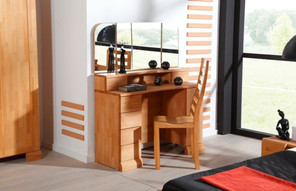 la table coiffeuse est toujours la mode. Black Bedroom Furniture Sets. Home Design Ideas