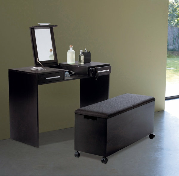 fabulous with coiffeuse noire avec miroir. Black Bedroom Furniture Sets. Home Design Ideas