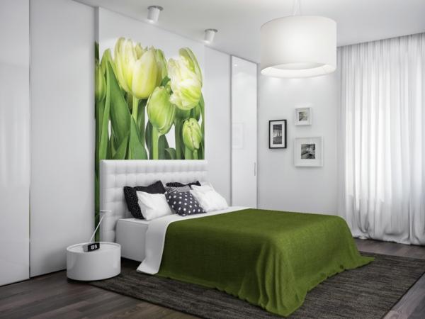 contemporain cambre coucher peinture vert - Deco Chambre A Coucher Peinture
