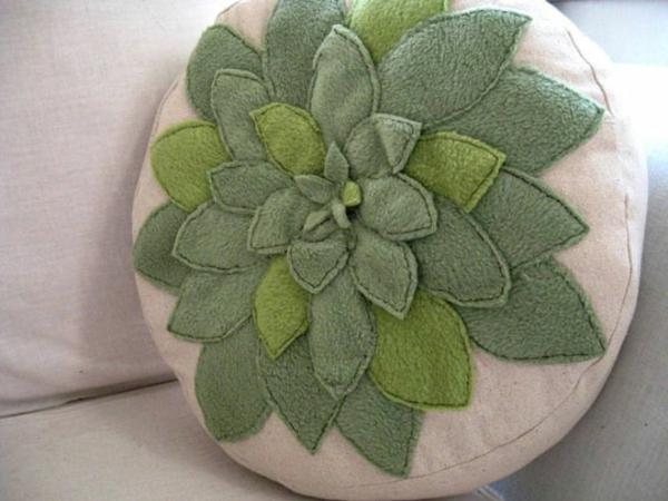 coussins-ronds-vert-dessin
