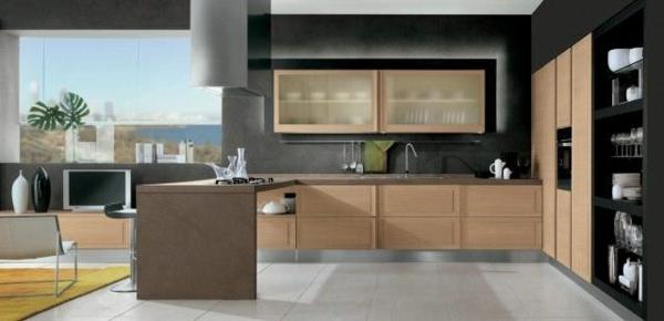 ★ La cuisine bois et noir – c'est le chic sobre raffiné!