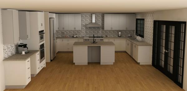 cuisine- ilot-central-blanc-et-gris