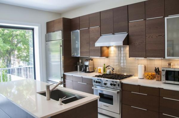 peinture de cuisine cuisine beige et brun cuisine avec lot central - Cuisine Beige Ikea