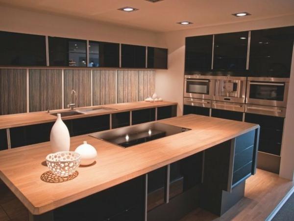 La cuisine bois et noir c 39 est le chic sobre raffin - Cuisine bois plan de travail noir ...