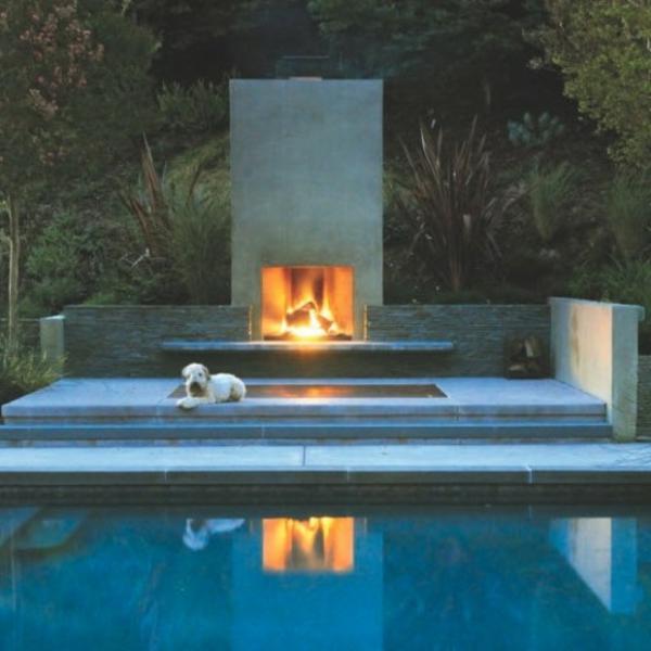 la chemin e d 39 ext rieur cr e l 39 ambiance de votre jardin ou terrasse. Black Bedroom Furniture Sets. Home Design Ideas